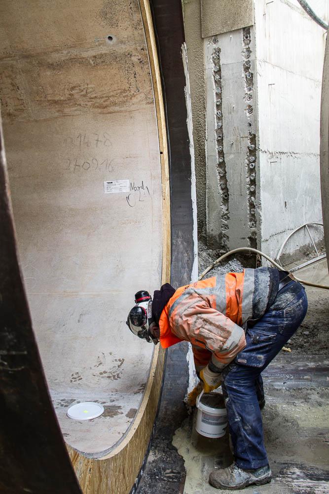 Arbeiter im Schacht