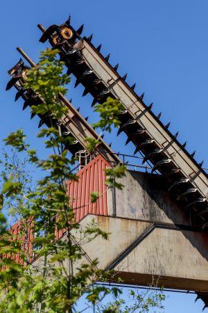 Kohlerückladevorrichtung (dient auch zum Vermischen der Kohle)