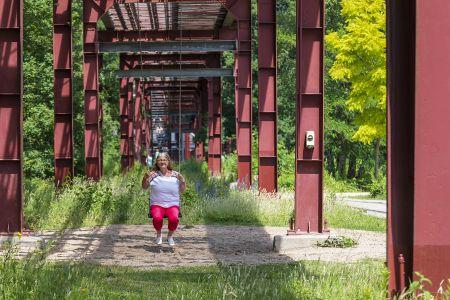 Neu genutzte Rohrbrücke