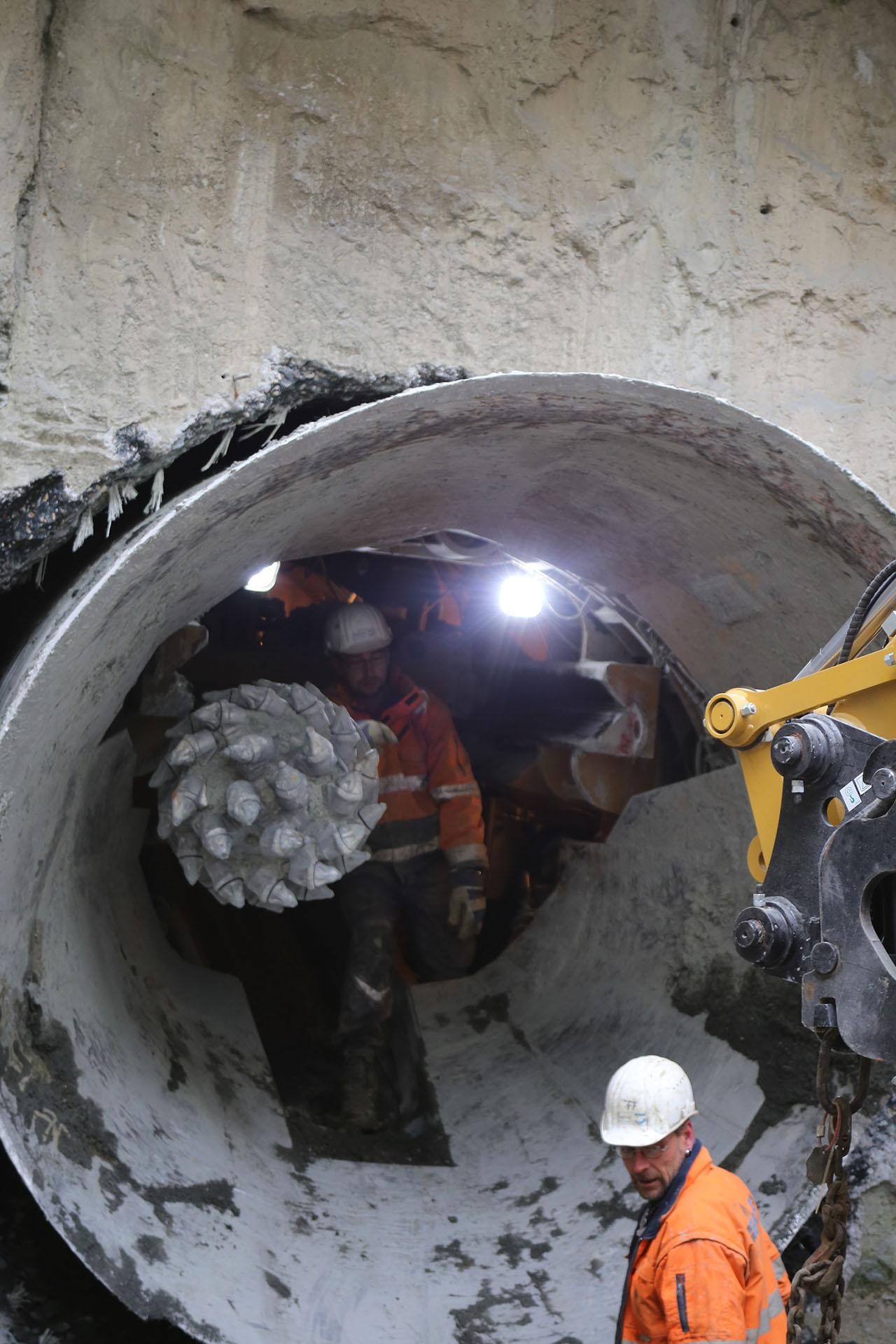 Tunnelbohrmaschine wird verlassen
