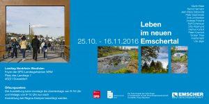 EInladungskarte zur Ausstellung Leben um neuen Emschertal 2016