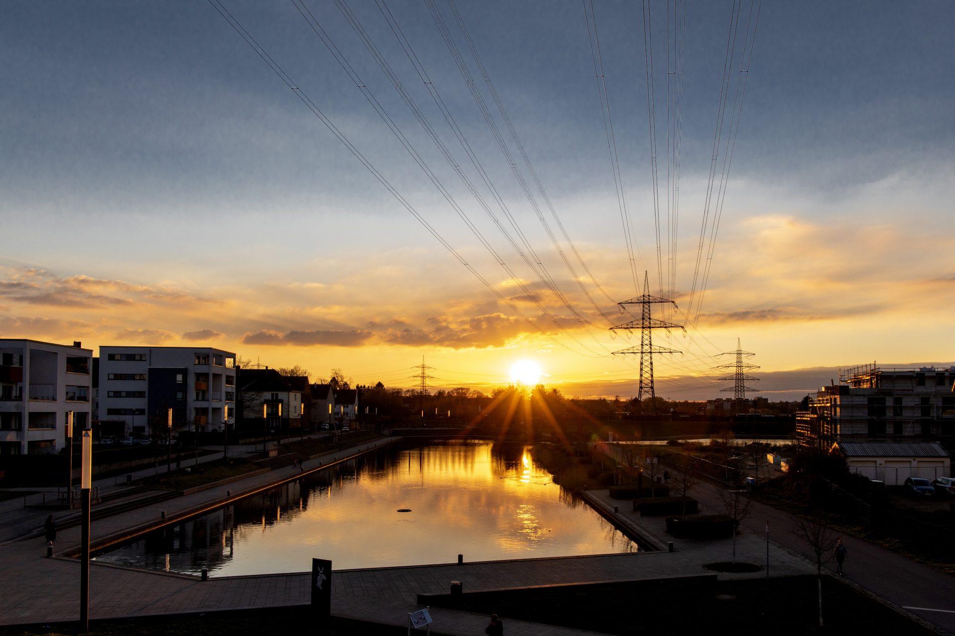 Sonnenuntergang am Niederfeldsee